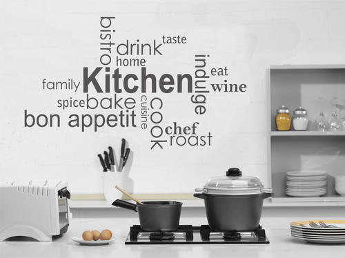 Decals tasty kitchen vinyl wall art words decal sticker home decor